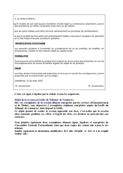 changement siege social sci la cession de parts sociales en droit marocain