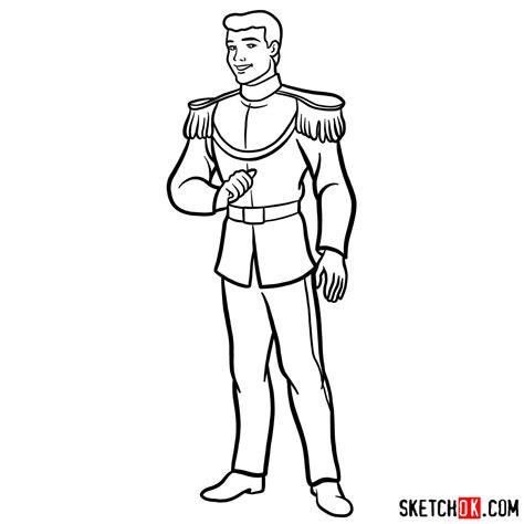draw prince charming cinderella step  step