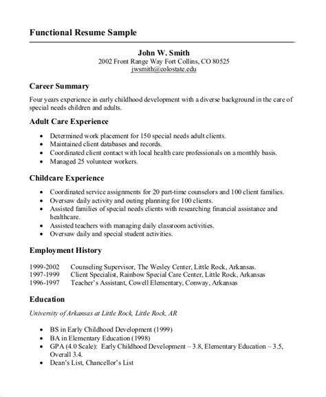 resume   job  samples  word