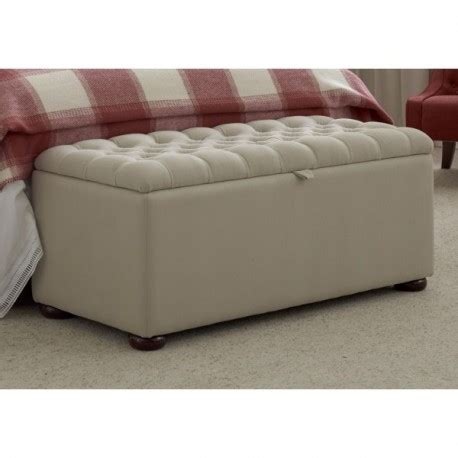 Ottomans Uk by Buttoned Lid 40x19 Storage Ottoman Quot Upholstered