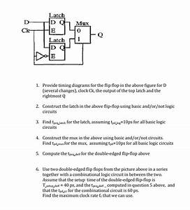 Solved  Latch Mux 0 Ck Latch R1 Provide Timing Diagrams Fo