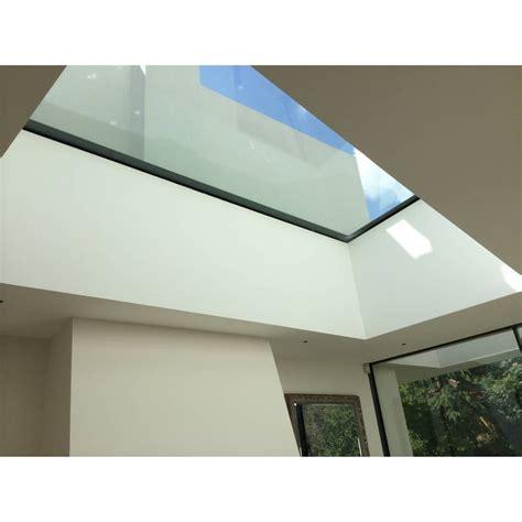 sunlux cm  cm flat glass rooflight fixed double