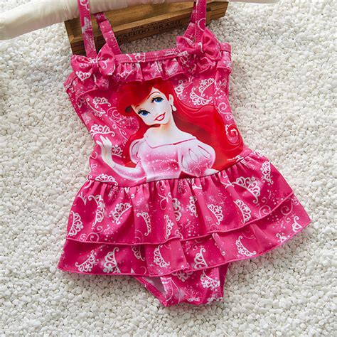 hot children princess swimwear kids  piece cartoon