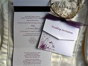 purple and lilac butterfly tri fold wedding invitations With inexpensive tri fold wedding invitations