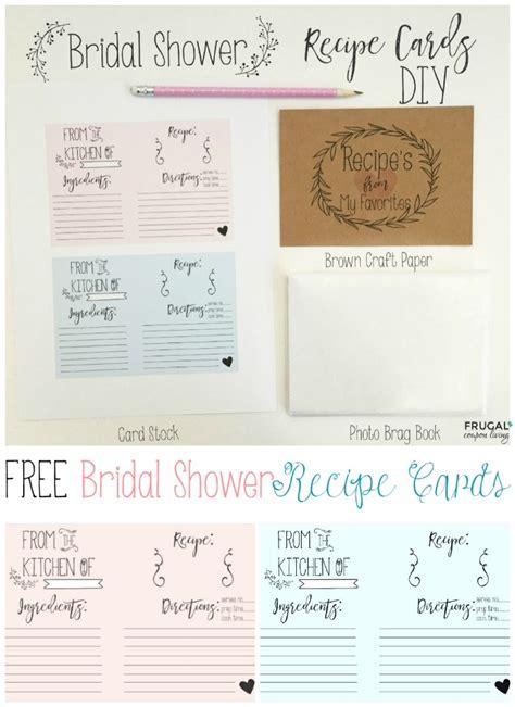 bridal shower recipe printable