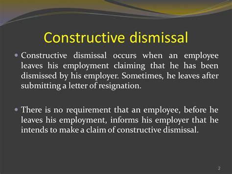 constructive dismissal levins solicitors