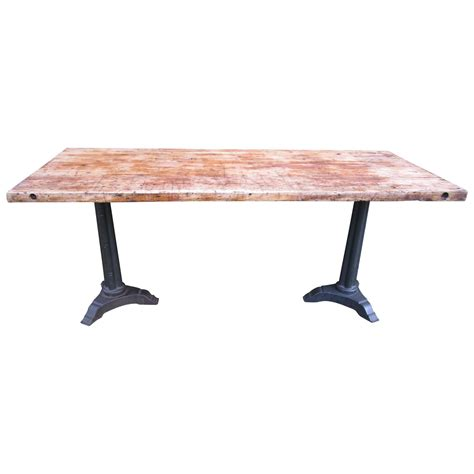 Butcher Block Dining Table At 1stdibs