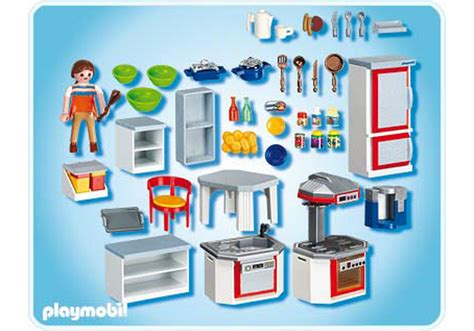 playmobil cuisine kitchen with dinnette set 4283 a playmobil