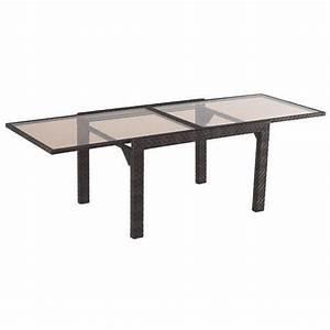Table De Jardin Extensible Aluminium : mobilier table table de jardin en aluminium extensible ~ Teatrodelosmanantiales.com Idées de Décoration
