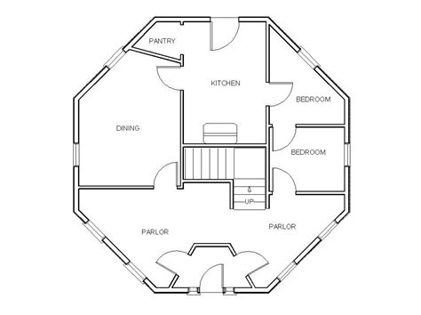 lovely octagon home plans  octagon house floor plans