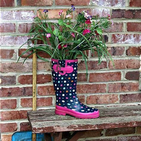 rain boot flower display   smile