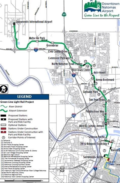 sacramento light rail map rail connections to california s major airports railpac