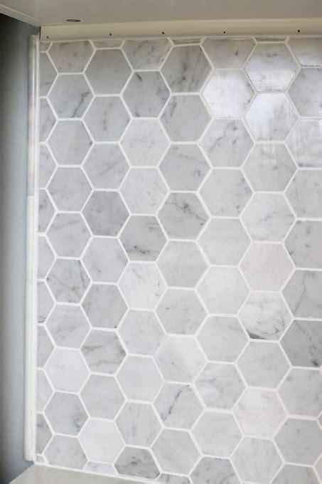 install  marble hexagon tile backsplash abby lawson