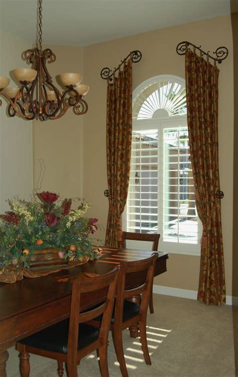 tuscan country window treatments dining rooms
