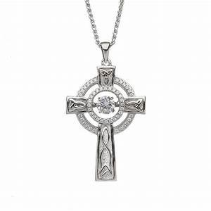 Ladies Dancing Stone Celtic Cross | Claddagh Jewellers  Cross