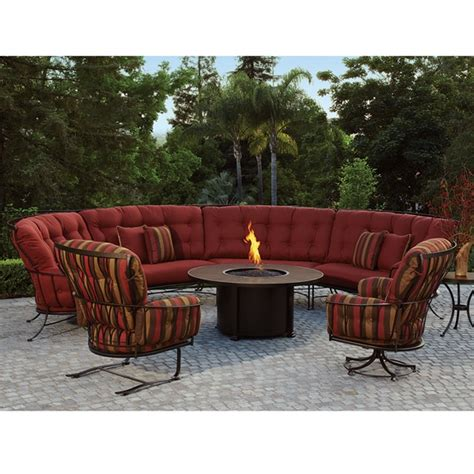 ow monterra curved outdoor sectional set with pit
