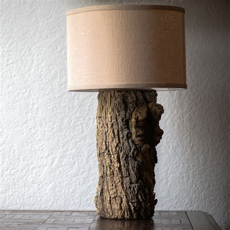 tree trunk lights tree trunk table l rustic cabin decor fabby