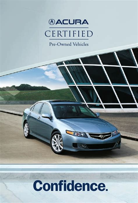 Pre Certified Acura by Acura Certified Pre Owned Vehicle Brochure Dch Acura Of