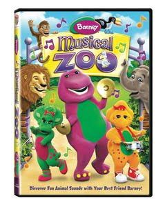 When i hear a certain instrument in this music and certain songs in certain different versions, i see curly ribbons in a little girl's hair JAM Movie Reviews: JAM Reviews Barney: Musical Zoo from Lionsgate/HIT Entertainment