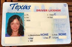 out with the old in with the new With texas temporary drivers license template