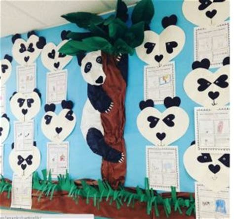 panda craft idea for crafts and worksheets for 350 | panda bulletin board idea for kids 300x282