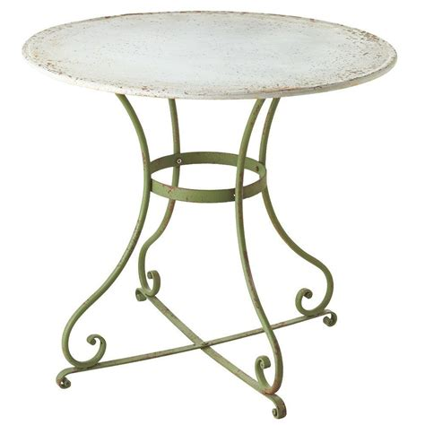 round metal outdoor table filament design sundry green round metal bistro patio