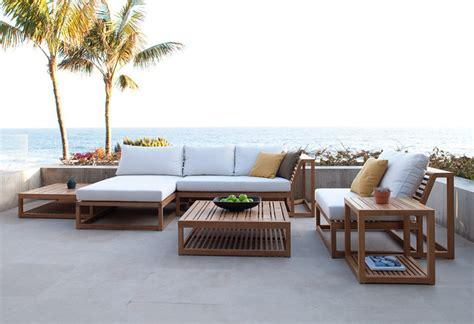 6pc teak lounge set modern patio orange county