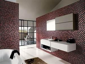 carrelage salle de bains 34 idees avec la belle mosaique With deco mosaique salle de bain