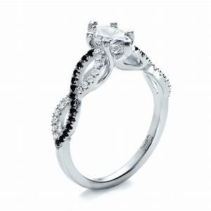 custom two tone and marquise diamond engagement ring 100620 With wedding rings with black and white diamonds