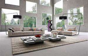 stunning salon contemporain roche bobois images awesome With canape cuir roma