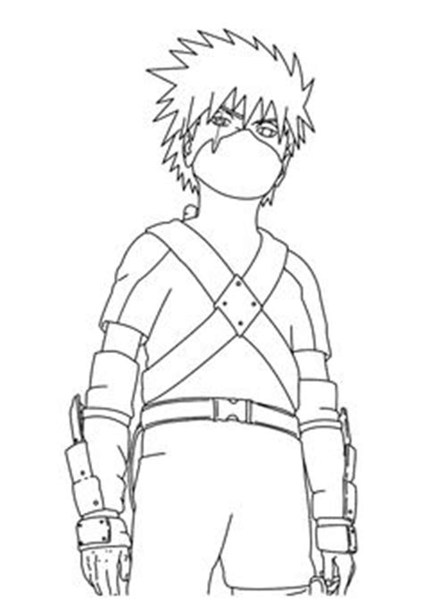 Naruto face anime coloring pages for kids, printable free
