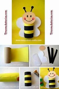 manualidad infantil para hacer una abeja con el rollo de papel higiénico Decoración Pinterest