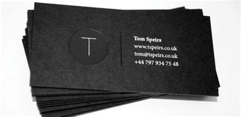black  white business cards design  inspiring
