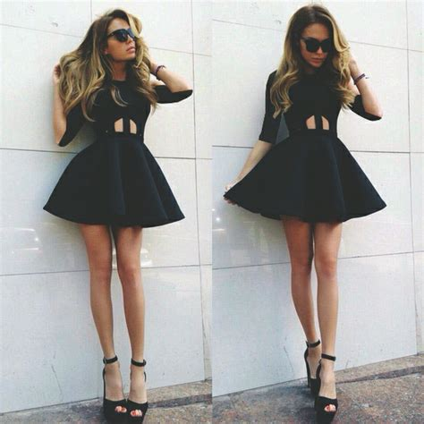 Amazing black black dress classy clothes - image #3988239 by LuciaLin on Favim.com