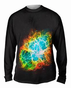 Yizzam- Crab Nebula Space Galaxy - New Mens Long Sleeve ...