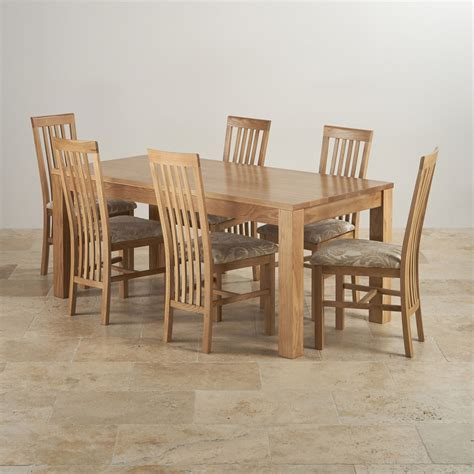 solid oak dining table and 6 chairs acorn extending