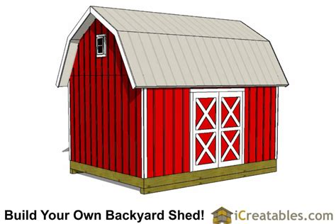 gambrel shed plans  barn shed plans