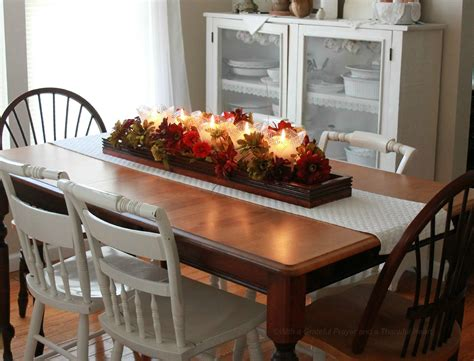 fallwinter dining room table centerpieces dining table