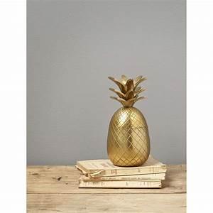 Objet Deco Ananas : cyrillus ananas objet de d coration dor brandalley ~ Teatrodelosmanantiales.com Idées de Décoration