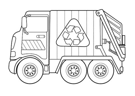 garbage truck coloring page recycling garbage truck coloring pages print