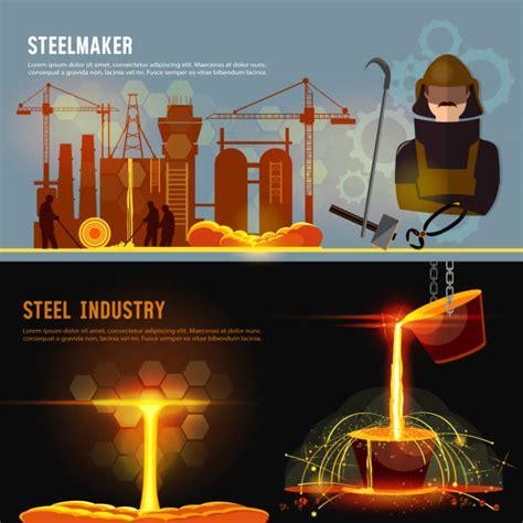 Best Steel Mill Illustrations Royalty Free Vector