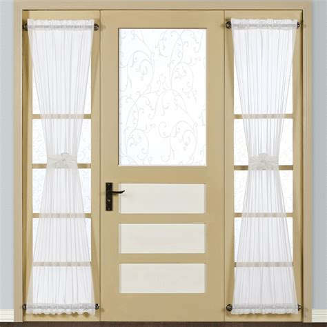 sidelight window curtain panel monte carlo sheer voile sidelight panel