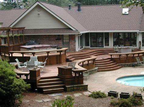 Backyard Deck Plans by Decking Cool And Modern Backyard Decks Design Tvhighway Org