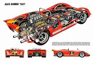 Pinterest Com  Fra411  Alfa Romeo Proto 33  3 Cutaway