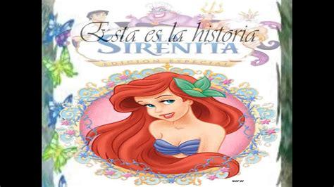 Cuentos Infantiles (princesas Disney) La Sirenita (bajo