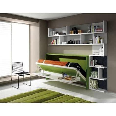 armoire lit escamotable fleet avec bureau 90x190cm achat