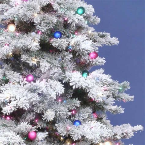 vickerman snowy alaskan cluster tree 3 foot flocked alaskan tree all lit lights a806341 vickerman