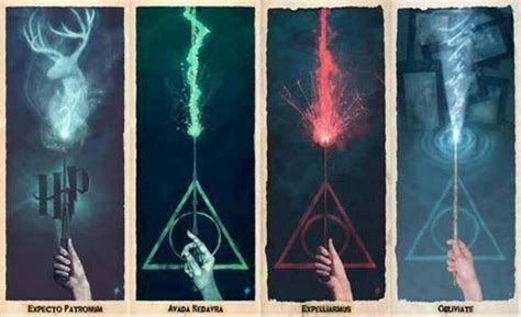 harry potter fan stuff deathly hallows spells great bookmarks harry potter fan