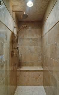 bathroom shower stall tile designs seeking pictures of narrow showers with 1 glass wall