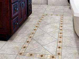 Tile laid out in a diamond pattern for bathroom flooring for Diamond cut floors